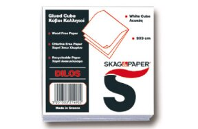 WHITE PAPER REFILL GLUED SKAG